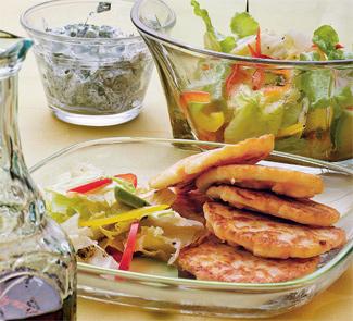 Рецепт Кукурузные оладьи с салатом