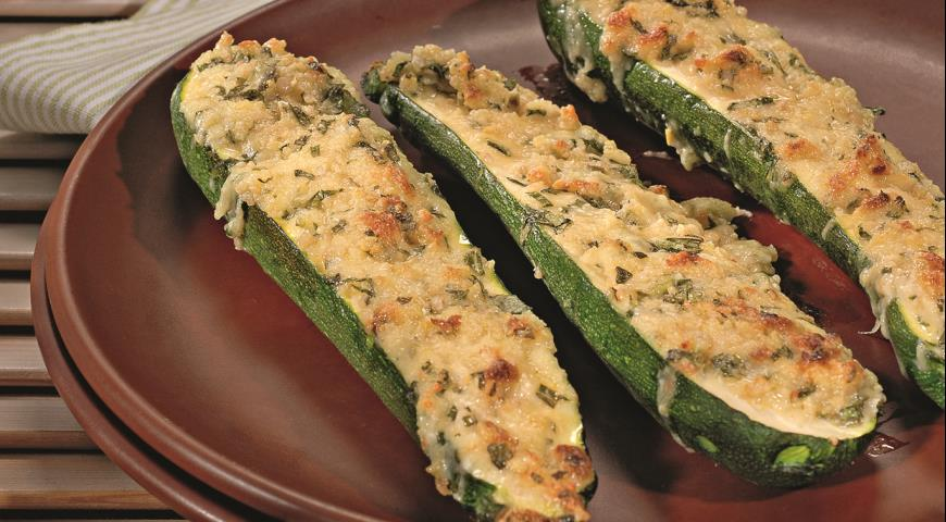 Рецепт Молодые кабачки в ореховом соусе