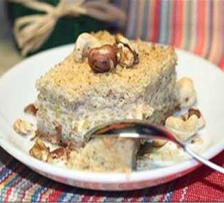 Рецепт Рассыпчатый яблочно - творожный пирог с орехами