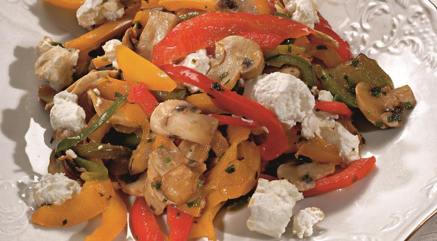 Рецепт Соте из сладких перцев с грибами