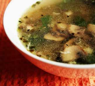Рецепт Лёгкий овощной суп со шпинатом