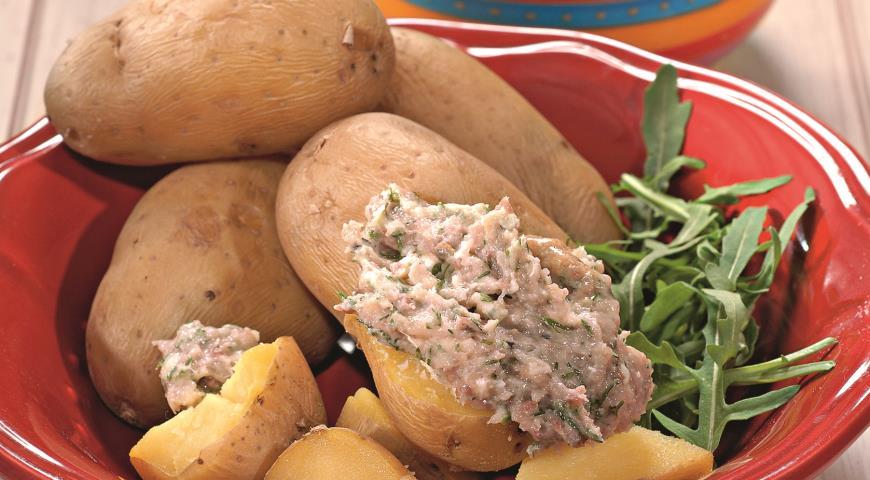 Рецепт Молодой картофель с селедочным маслом