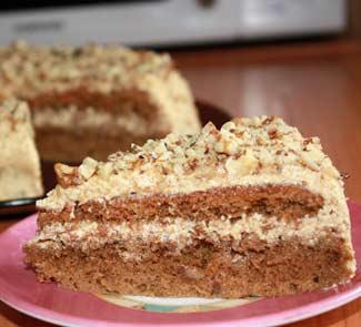 Рецепт Кофейно-ореховый торт Идеал