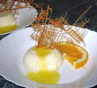 Рецепт Паннакотта с сахарной решеткой