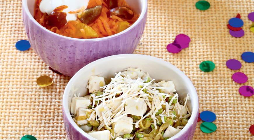 Рецепт Два салата для сытного полдника