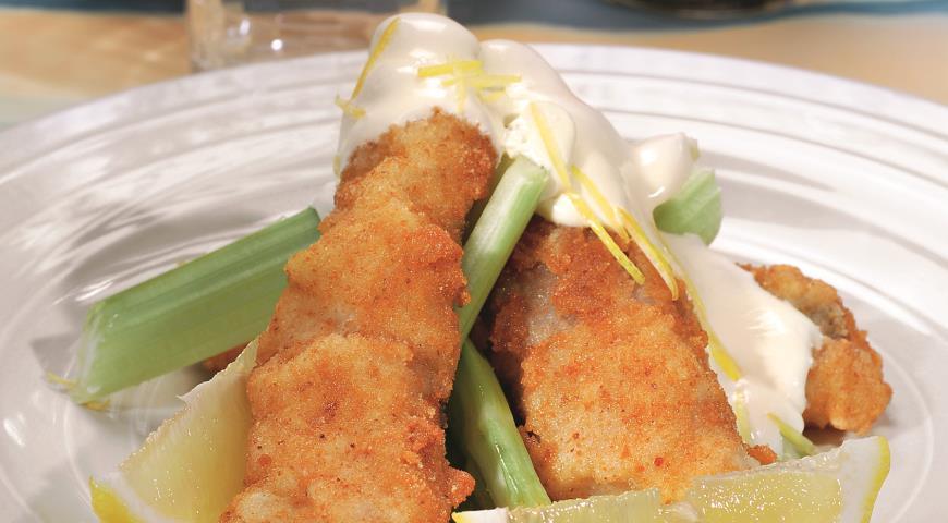 Рецепт Рыба с лимонным майонезом
