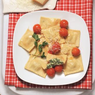 Рецепт Равиоли со шпинатом и рикоттой