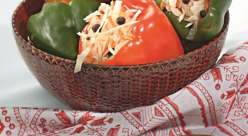 Рецепт Перцы, фаршированные капустой