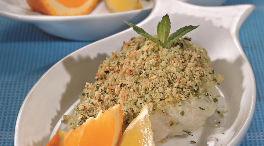 Рецепт Рыбное филе в зеленой панировке