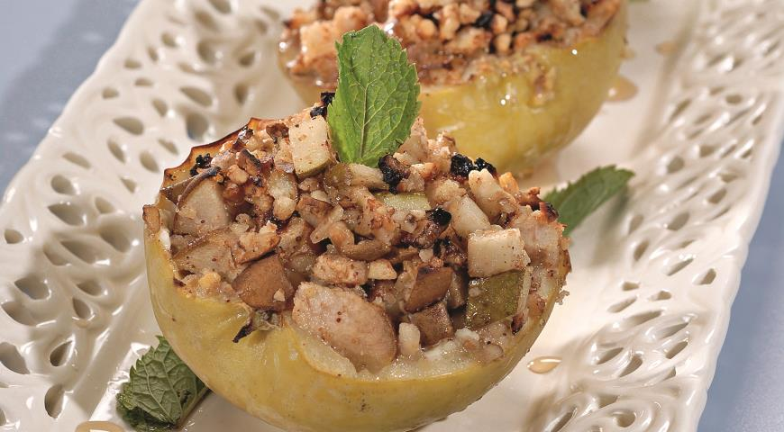 Рецепт Яблоки с ореховой начинкой