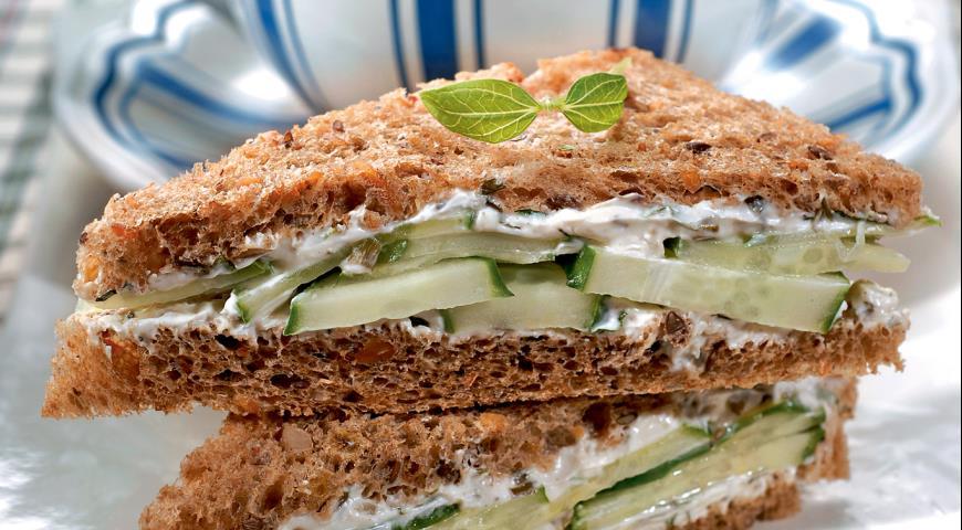 Рецепт Английские сэндвичи с огурцами