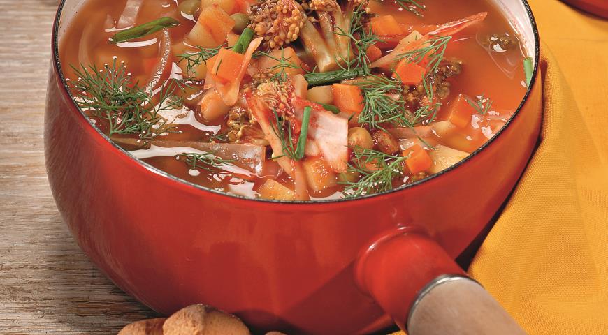 Рецепт Томатный суп с овощами