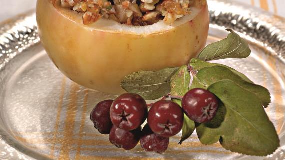 Яблоки с творогом в мультиваркеы с фото