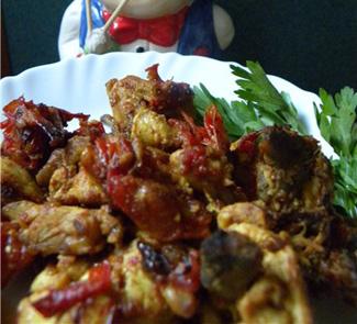 Рецепт Курица с помидорами в соусе карри (Tamatar murghi )