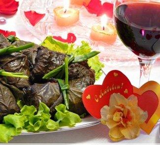 Рецепт Виноградные улитки из семги