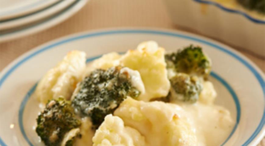 Рецепт Запеченные цветная капуста и брокколи в мультиварке