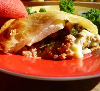Рецепт Мясной пай с грушами и домашним сыром