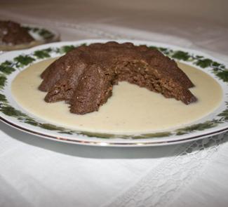 Рецепт Хлебный пудинг с коньячным соусом