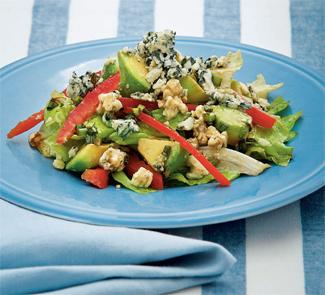 Рецепт Салат из авокадо с рокфором