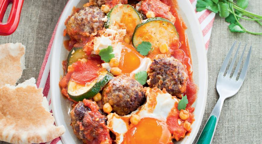 Рецепт Марокканские фрикадельки с яйцом