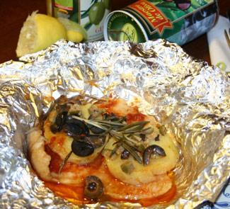 Рецепт Горячая рыбная закуска с оливками