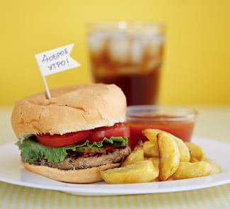 Рецепт Гамбургер с картошкой