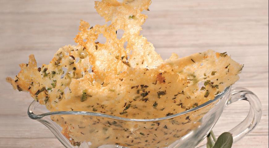 Рецепт Вафли из пармезана с зеленью