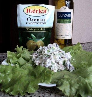 Рецепт Испанский салат с грибами (Ensalada de setas)