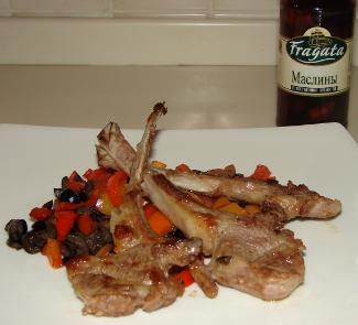 Рецепт Баранина с перцем и маслинами
