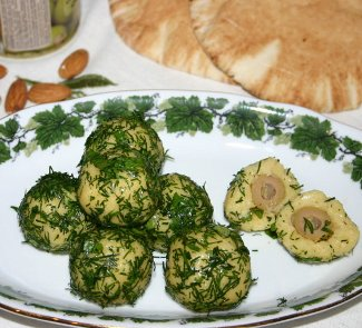 Рецепт Сырные шарики с оливками