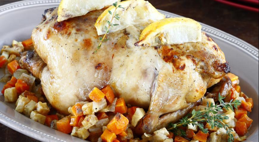 Рецепт Курица с лимоном и тимьяном