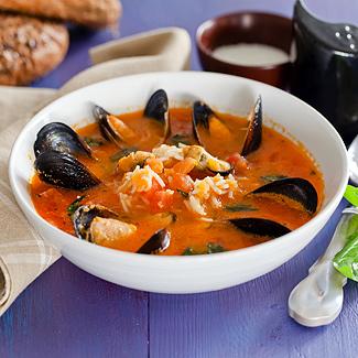 Рецепт Итальянский рисовый суп с мидиями в мультиварке