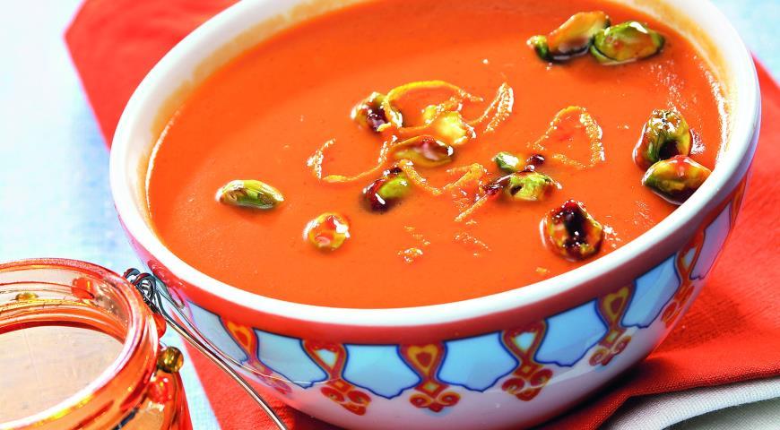 Рецепт Тыквенный крем-суп с карамелизированными фисташками