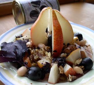 Рецепт Фасолевый салат с базиликом и оливками