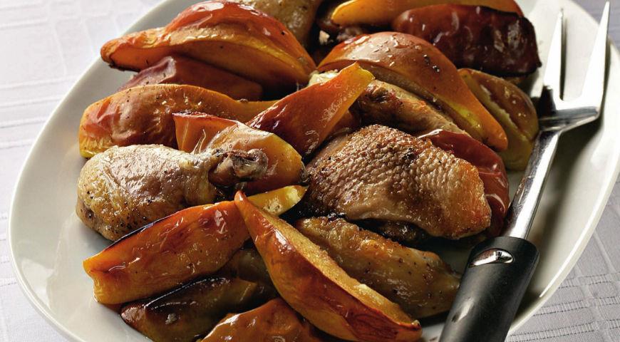 Рецепт Утка с курицей, запеченные в духовке
