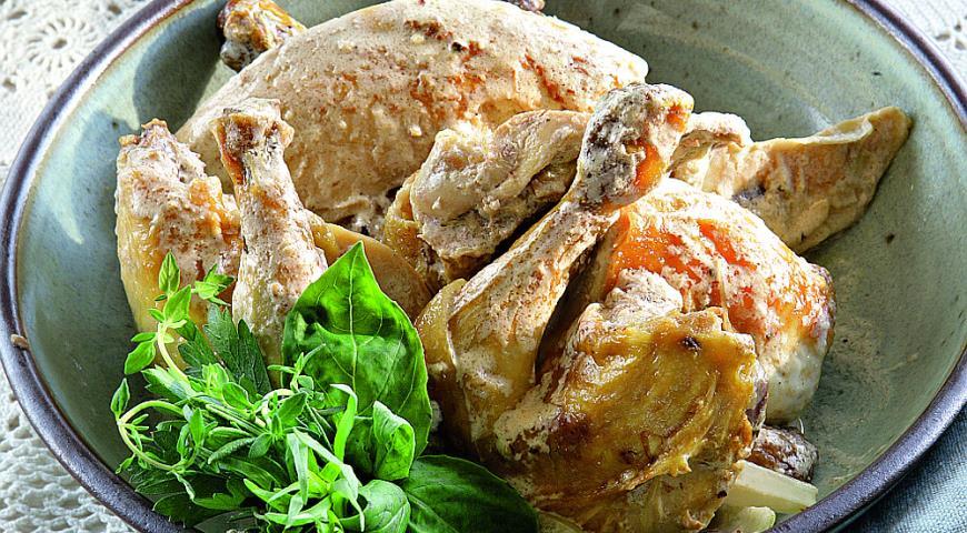 Рецепт Курица из Бресса в сливочном соусе