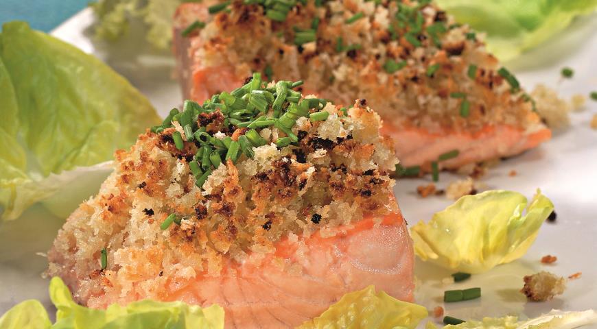 Рецепт Стейки из лосося с хреном