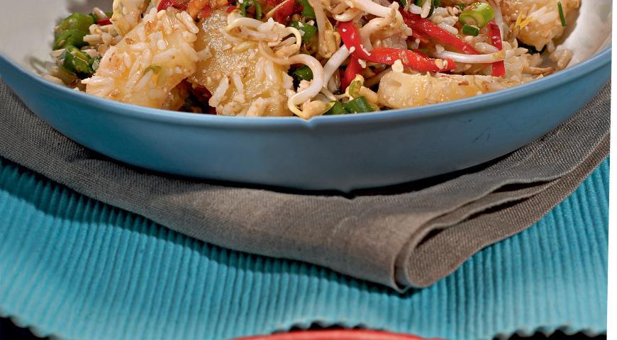 Рецепт Горячий салат с рисом
