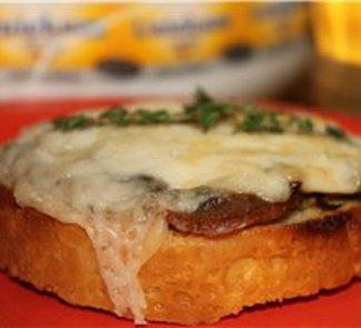 Рецепт Гренки с сыром и грибами