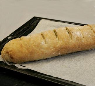 Рецепт Итальянский батон с моцареллой