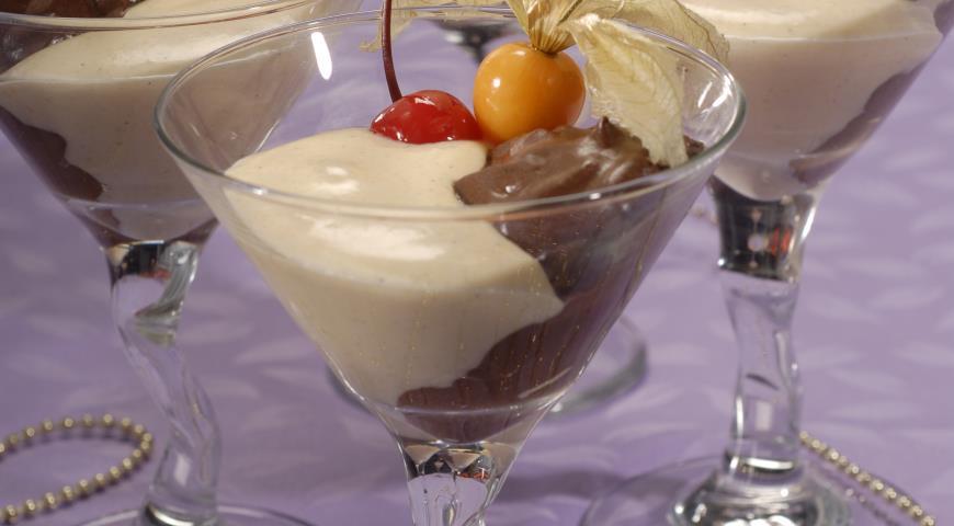 Рецепт Десерт Два крема