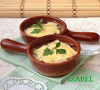 Рецепт Жюльен с грибами и шпинатом