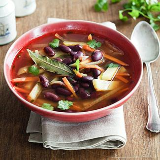 Рецепт Фасолевый суп с кинзой в мультиварке