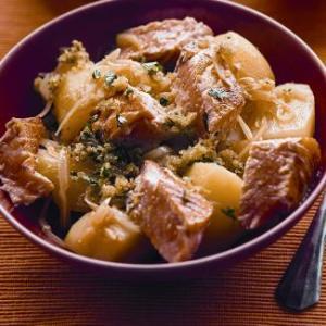 Рагу из семги с картофелем, пошаговый рецепт с фото