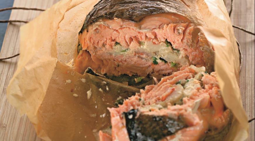 Рецепт Рыбная бандероль из семги