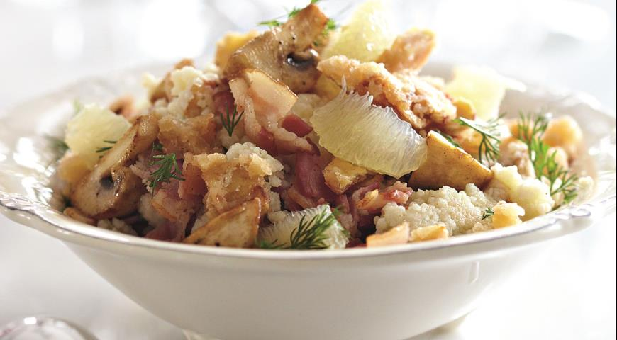 Рецепт Теплый салат с шампиньонами