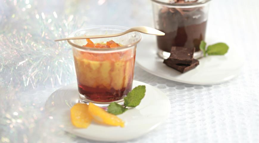 Рецепт Мандариновый флан с цукатами