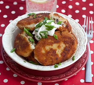 Рецепт Картофельные котлеты с пореем и грибами