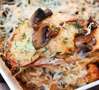 Рецепт Драники, запеченные с грибами