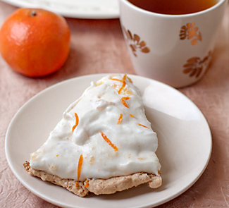 Рецепт Даккуаз с медово-мандариновыми сливками